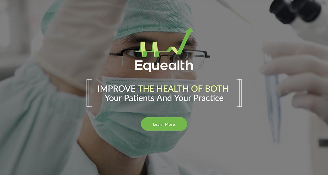 Equealth web site landing page