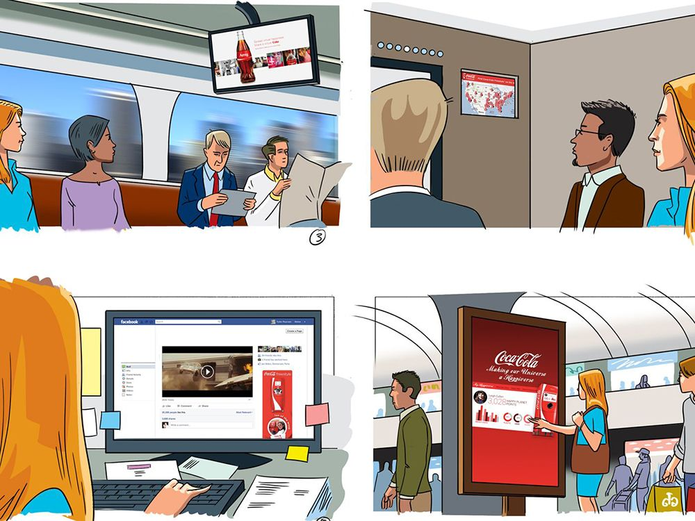 Storyboard of a customer journey with Coca-Cola and CGV Cinemas